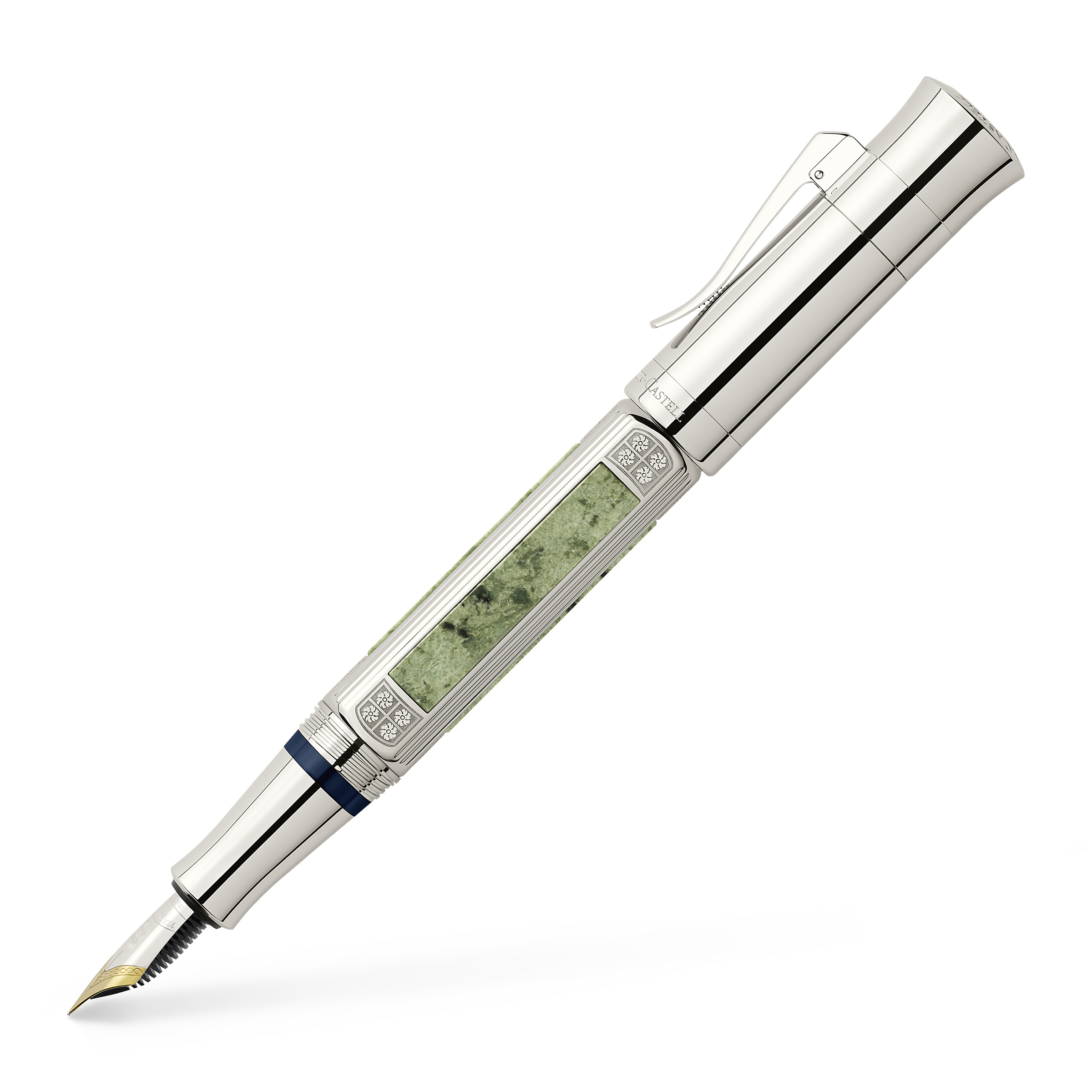 Graf-von-Faber-Castell - Fountain pen, Pen of the Year 2015 platinum-plated, Medium